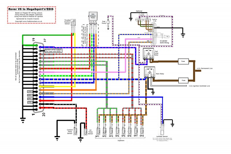 megasquirt wiring for rover v8 fuddymuckers