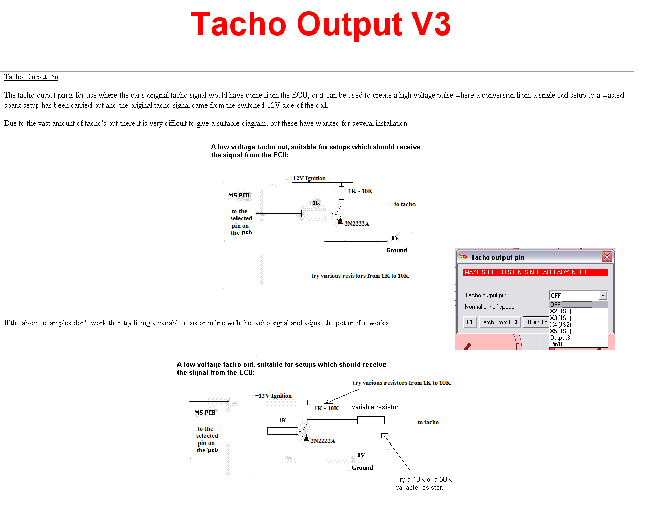 Sams 35 Disco Megasquirt Start Finish Install Thread Page 14 2 Wiring Diagram View V3 Tacho Out